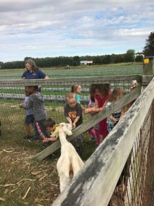 kids visiting a farm